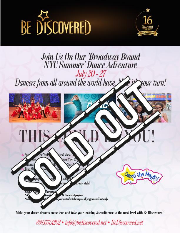 2020 - Broadway Bound! NYC Summer Intensive